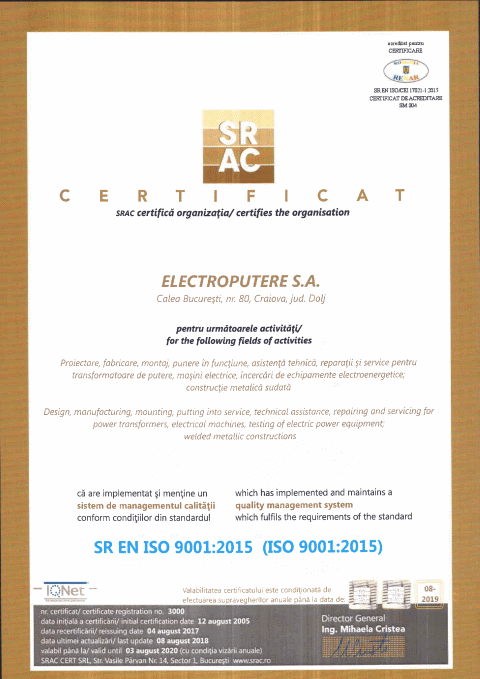 Certifications And Authorizations Electroputere
